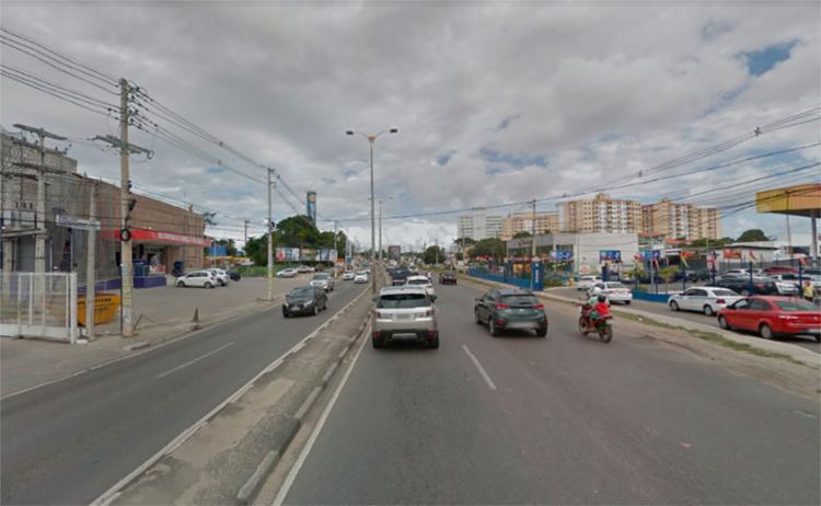 Crime aconteceu na avenida Santos Dumont, em Lauro de Freitas - Foto: Reprodução | Google Maps