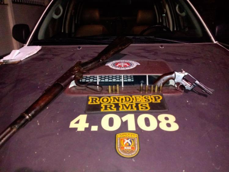 Duas armas, um caminhão e um carro foram apreendidos durante a ação - Foto: Divulgação | SSP-BA