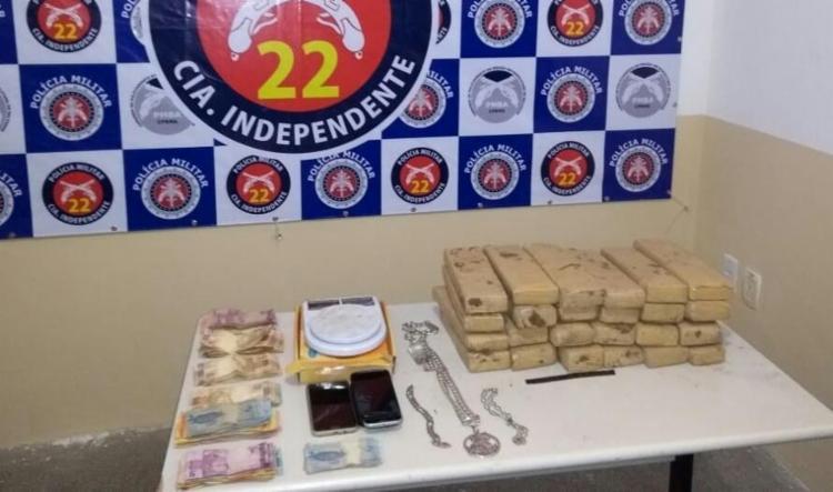 Material foi encaminhado para a Delegacia Territorial de Simões Filho - Foto: Divulgação   SSP-BA