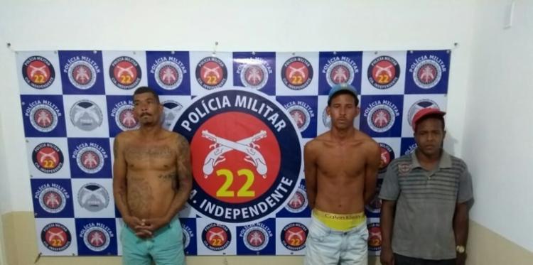Trio era responsável pela distribuição e contabilidade de uma quadrilha de tráfico de drogas - Foto: Divulgação   SSP-BA