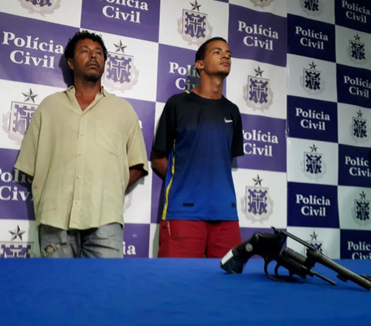 Adenilson Sena e Rodrigo Dantas foram autuados em flagrante por extorsão mediante sequestro - Foto: Divulgação | Polícia Civil