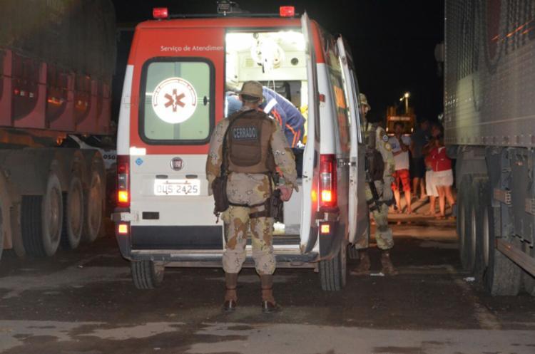 Vítima foi socorrida para o Hospital do Oeste, em Barreiras - Foto: Reprodução | Blog Sigi Vilares