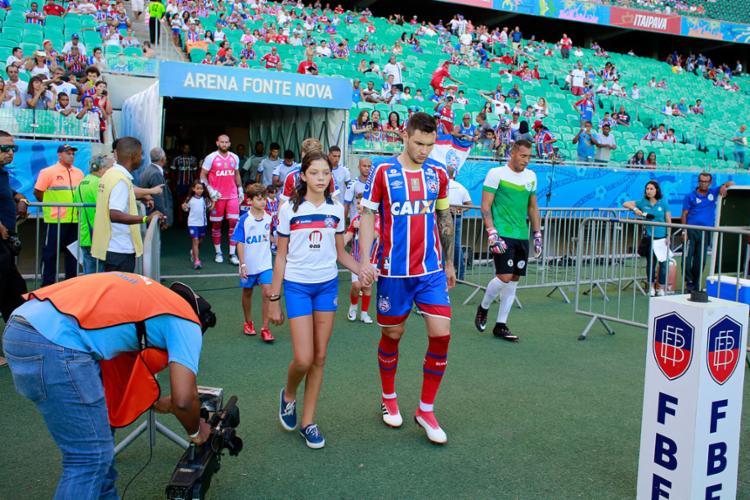Equipes devem entrar em campo cinco minutos antes do horário previsto para o início da partida - Foto: Felipe Oliveira | EC Bahia