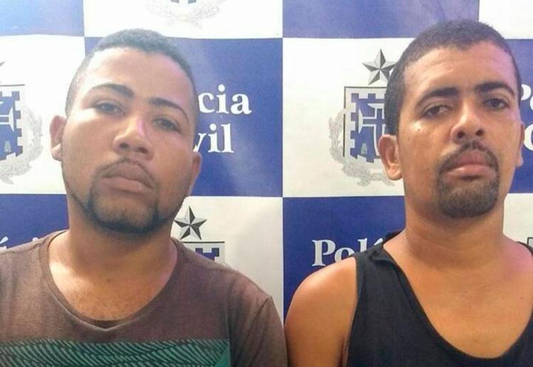 Dupla foi reconhecida pelas vítimas - Foto: Divulgação   SSP-BA