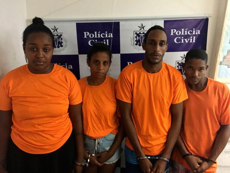 O bando foi capturado durante operação 'Amoeiras' da Polícia Civil (PC-BA) na terça-feira, 6 - Foto: Divulgação   PC-BA