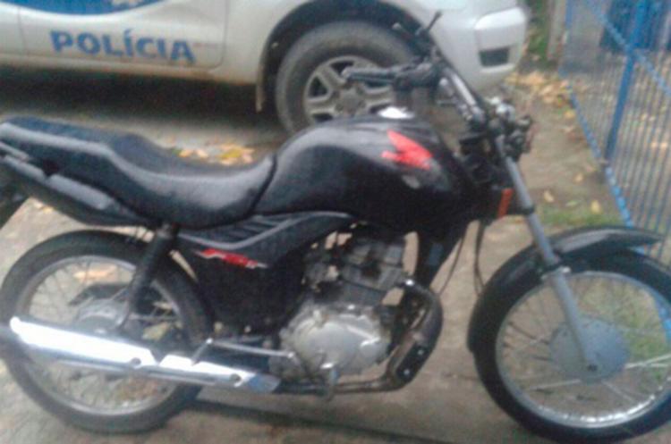 A moto foi roubada na noite do sábado, 10, em Ipiaú - Foto: Reprodução | Giro em Ipiaú