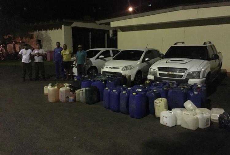 Grupo foi flagrado furtando 1.285 litros de álcool e gasolina - Foto: Divulgação