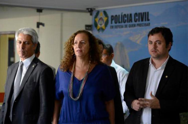 Deputados se reuniram com o chefe de Polícia do Rio de Janeiro - Foto: Fernando Frazão   Agência Brasil