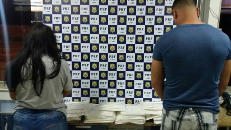 Casal teria recebido a droga na rodoviária do Tietê, em São Paulo, e estavam indo para Salvador - Foto: Divulgação | PRF