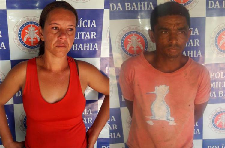 Dupla foi presa em flagrante no local da plantação - Foto: Divulgação | SSP