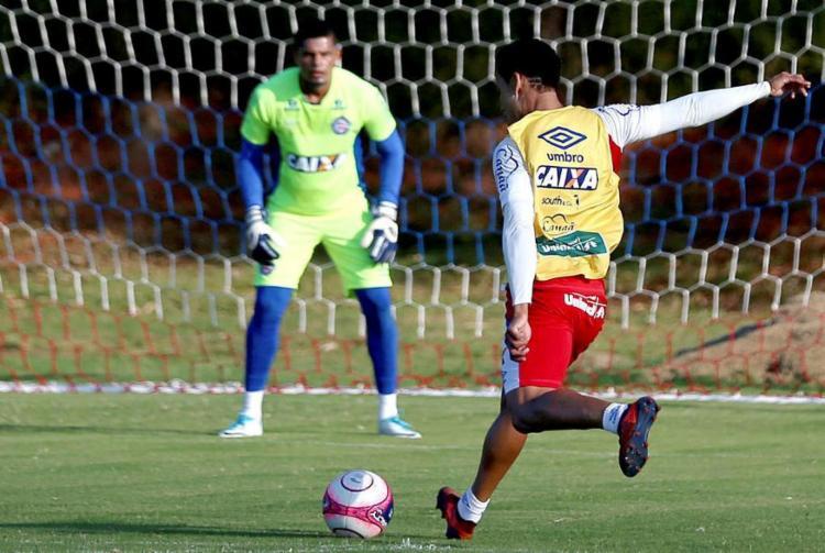 Artilheiro Edigar Junio fez apenas um gol este ano, pela Copa do Nordeste - Foto: Felipe Oliveira | EC Bahia | Divulgação