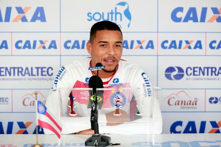 Gregore poderá ser relacionado para o jogo contra a Juazeirense - Foto: Felipe Oliveira | ECBahia | Divulgação