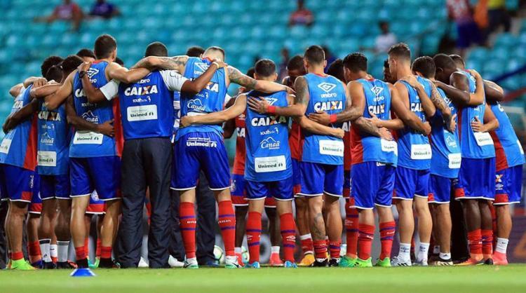 Clube mobiliza torcedores a participarem da orações - Foto: Felipe Oliveira | EC Bahia | Divulgação | 08.06.2017