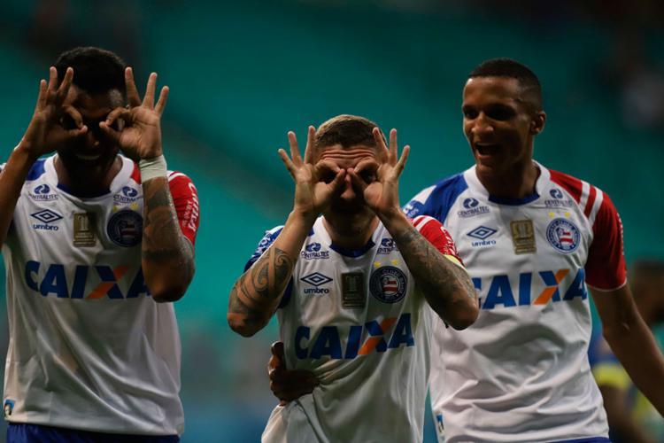 Bahia confirmou a classificação ao golear o Jequié - Foto: Adilton Venegeroles | Ag. A TARDE