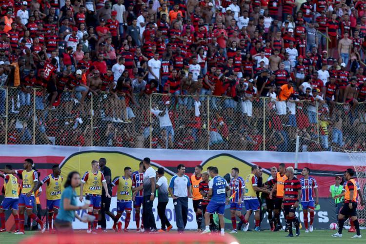 Ba-Vi terminou depois da quinta expulsão do Vitória - Foto: Felipe Oliveira | EC Bahia