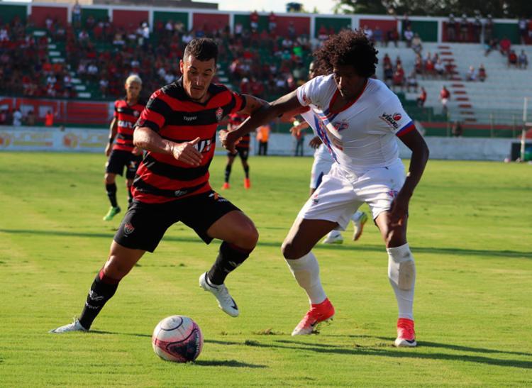 Belusso, atacante do Leão, abriu o marcador no Joia da Princesa - Foto: Maurícia da Matta | EC Vitória | Divulgação