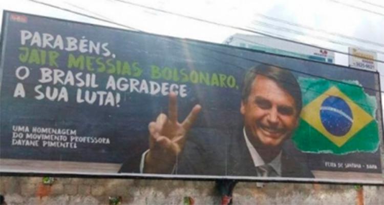 Outdoors são veiculados nos municípios baianos de Paulo Afonso, Glória e Santa Brígida - Foto: Reprodução | Facebook