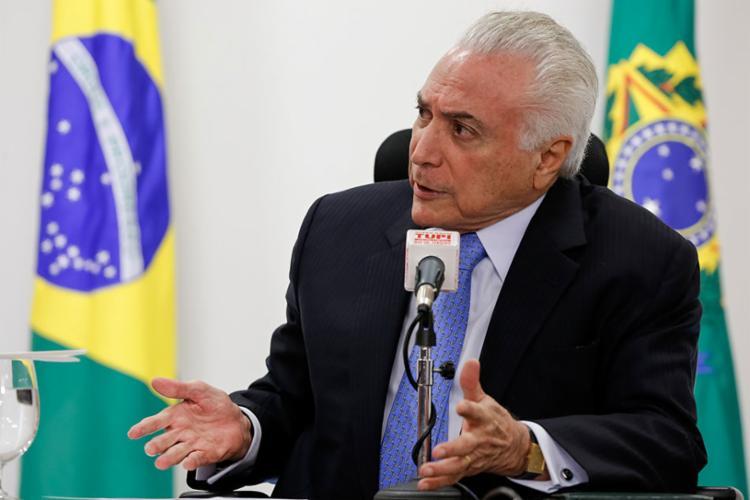 Presidente também criticou aqueles que são contra a intervenção das Forças Armadas no Rio de Janeiro - Foto: Marcos Corrêa | Fotos Públicas