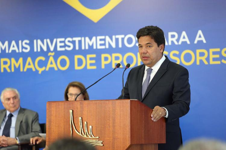 Segundo o ministro da Educação, Mendonça Filho, serão criadas 190 mil vagas em todo o Brasil. - Foto: André Nery l MEC