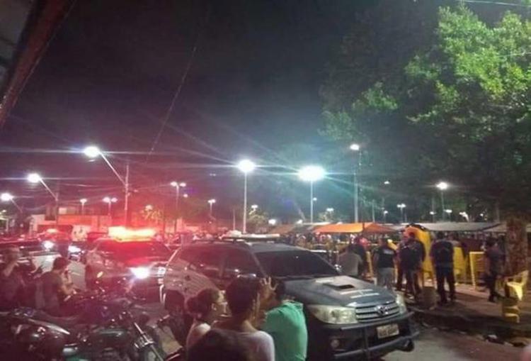 Ataque a tiros aconteceu na região central de Fortaleza na noite da sexta-feira, 9 - Foto: Reprodução l YouTube