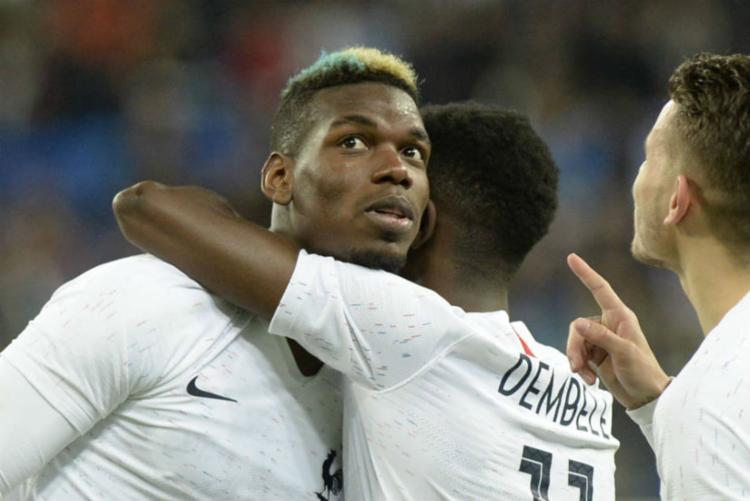Pogba e Dembélé foram as principais vítimas das ofensas - Foto: Olga Maltseva   AFP