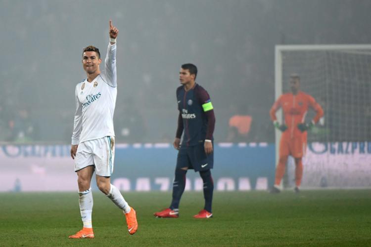 'CR7' chegou ao 12º gol na Liga dos Campeões - Foto: Geoffroy Van Der Hasselt | AFP