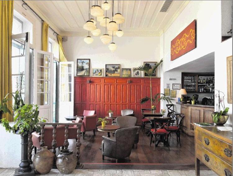 Bar do Villa Bahia: o hotel fica localizado no Pelourinho - Foto: Marcelo Negromonte | Divulgação