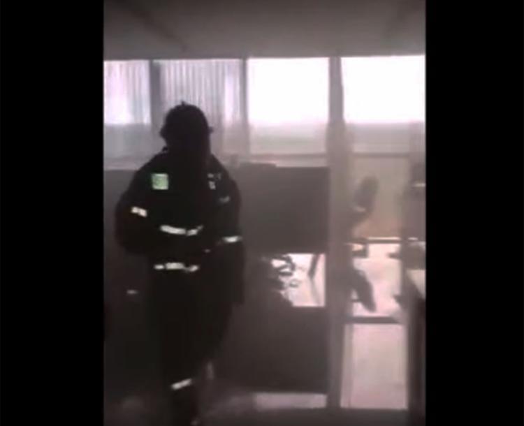 Fogo foi controlado por brigadistas do prédio - Foto: Reprodução | YouTube