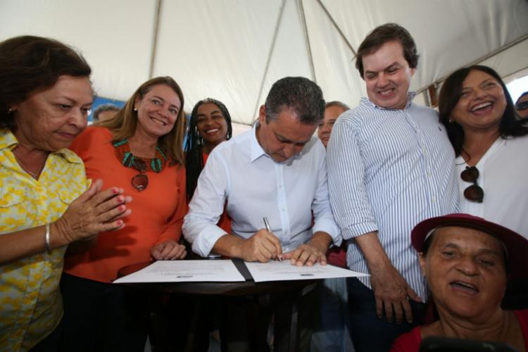 Ordem de serviço foi assinada na manhã deste sábado, 31, pelo governador Rui Costa (PT) - Foto: Divulgação