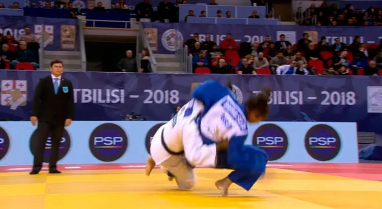 Bruna Silva seria a esperança do bronze na repescagem, mas lesionou o tornozelo direito em uma queda - Foto: Reprodução | YouTube