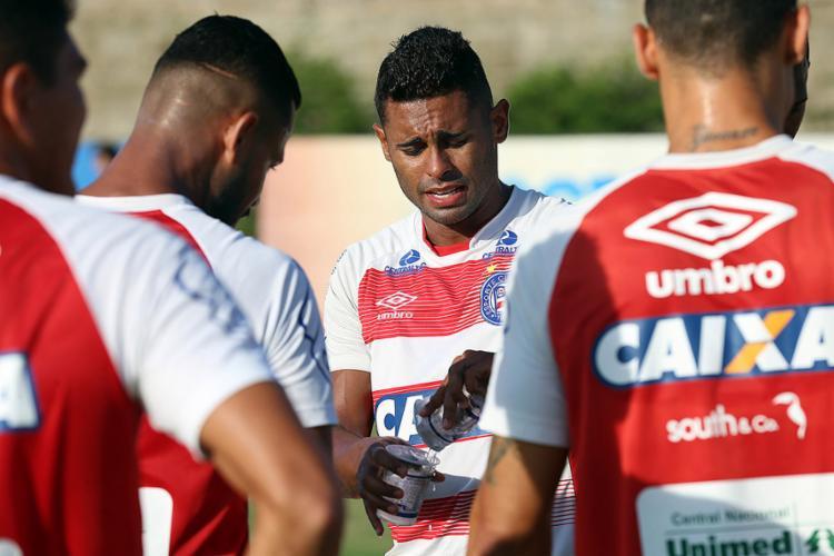 Titular na partida de hoje, o atacante Kayke ainda não teve boas atuações pelo Tricolor - Foto: Felipe Oliveira l EC Bahia