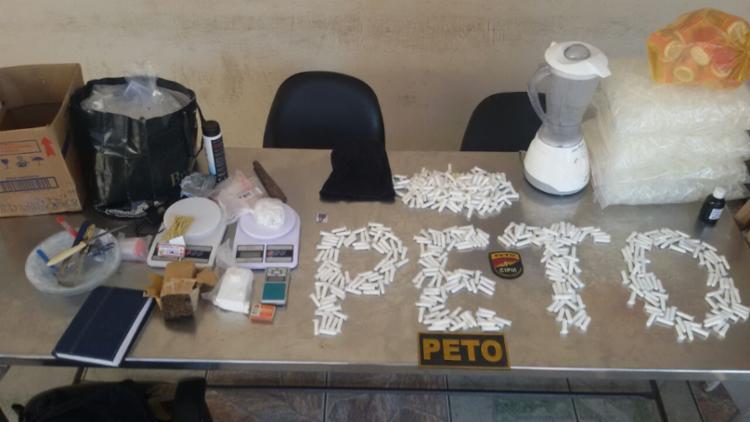 Material foi encontrado em uma casa após uma denúncia anônima - Foto: Divulgação | SSP