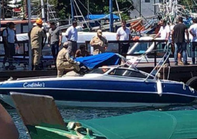 Segundo Corpo de Bombeiros, o acidente aconteceu na Lagoa Azul, na Baía de Ilha Grande - Foto: Reprodução l BandNews