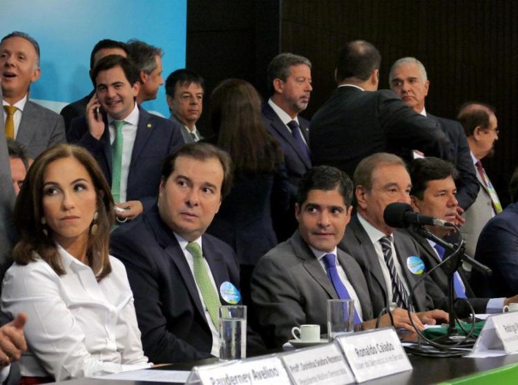 ACM Neto tomou posse como presidente do DEM - Foto: Orlando Brito   Divulgação