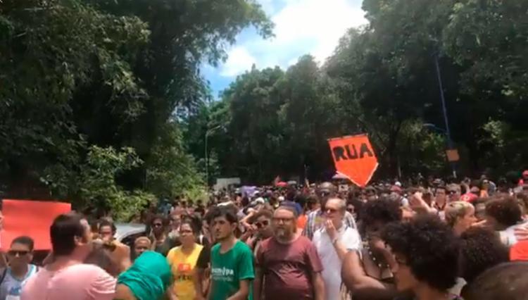 Marcha é realizada no campus de Ondina da Universidade Federal da Bahia - Foto: Reprodução | Facebook