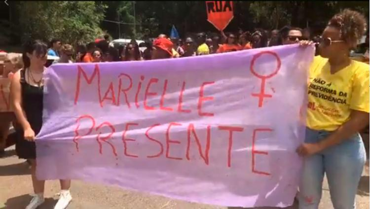 Marcha lembra luta da vereadora Marielle Franco, assassinada a tiros no Rio - Foto: Reprodução | Facebook
