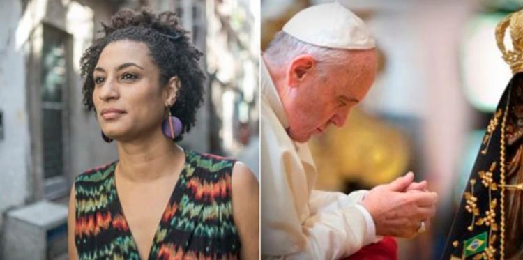 Papa manifestou solidariedade à família da vereadora - Foto: Reprodução | Twitter