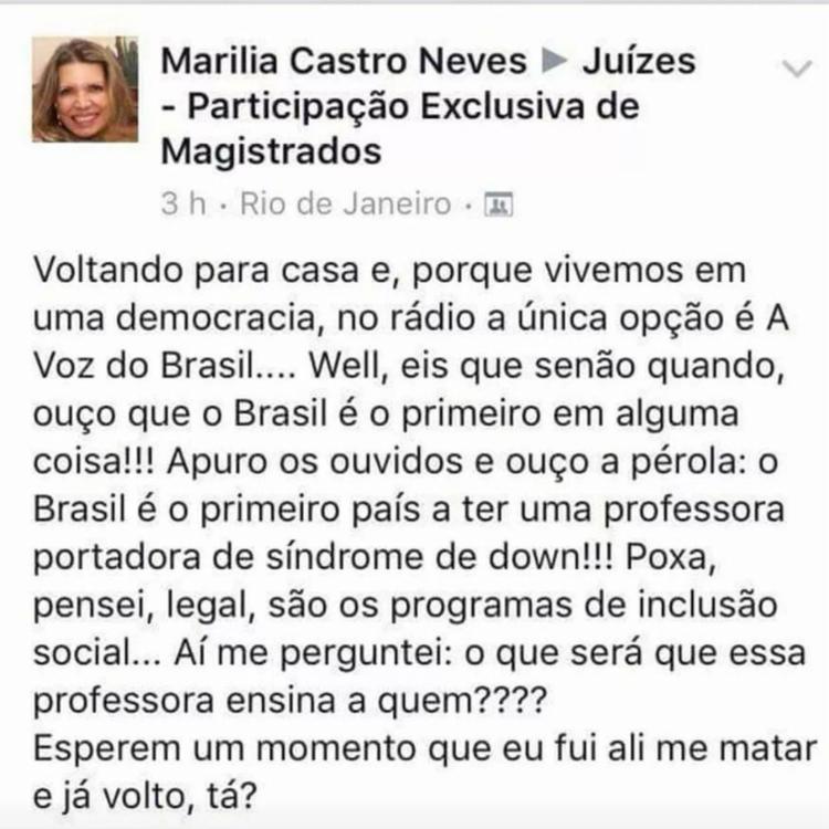 Desembargadora também divulgou fake news sobre Marielle - Foto: Reprodução | Facebook