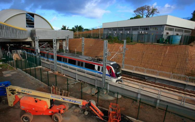 Após a inauguração, a cidade terá 31 quilômetros de trilhos do metrô - Foto: Alessandra Lori | Ag. A TARDE
