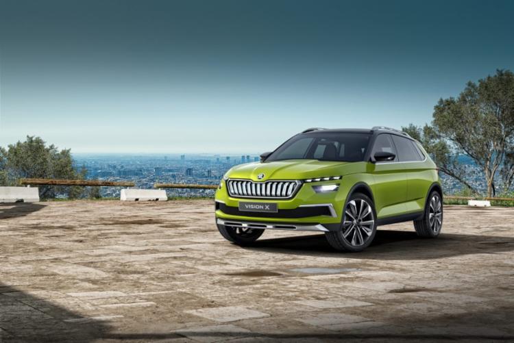 O Skoda Vision X será o menor e mais barato SUV da marca controlada pela Volkswagen - Foto: Divulgação