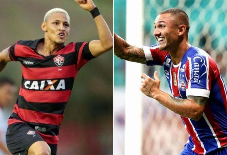 Neilton e Vinícius são destaques dos seus times - Foto: Raul Spinassé | Ag. A TARDE e Felipe Oliveira | ECBahia