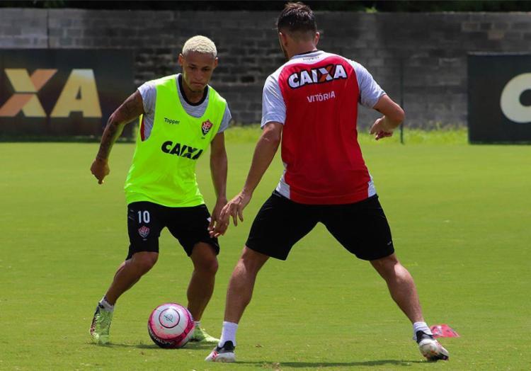 Artilheiro do time em 2018, Neilton é esperança de gols contra o Bahia de Feira - Foto: Maurícia da Matta l EC Vitória l Divulgação