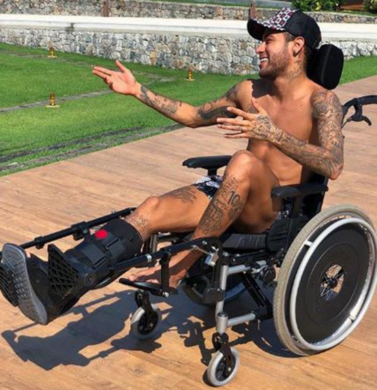 O jogador realiza tratamento em sua mansão localizada em Mangaratiba (RJ), no litoral fluminense - Foto: Reprodução l Instagram l @neymarjr