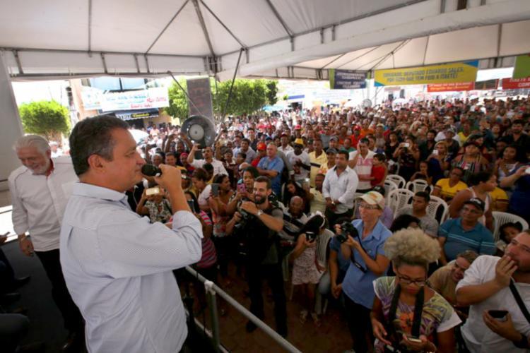 Rui Costa (PT) assinou ordem de serviço nesta sexta-feira, 2 - Foto: Divulgação   Secom