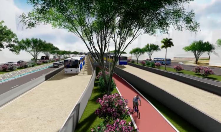 Simulação mostra como vai funcionar os corredores exclusivos do BRT em Salvador - Foto: Divulgação | Secom