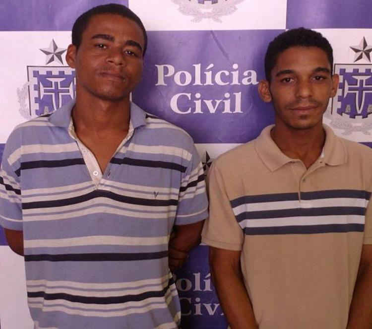 Carlos Henrique e Ramon Vitor foram encaminhados para audiência de custódia no Núcleo de Prisão em Flagrante - Foto: Divulgação | Polícia Civil