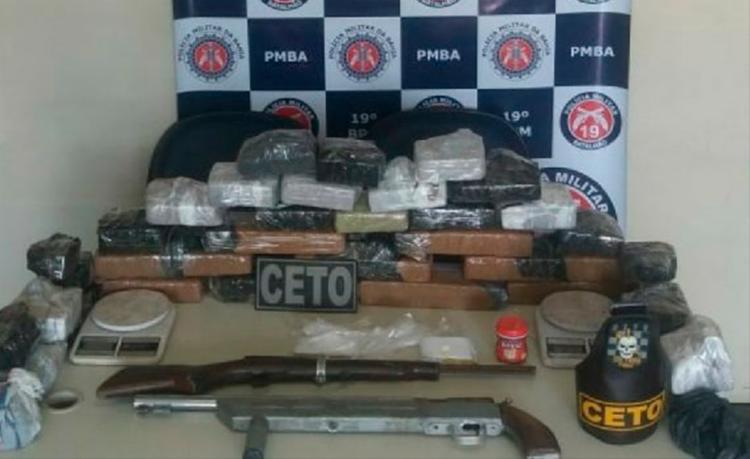 Material apreendido foi encaminhado para a 9ª Coordenadoria Regional de Polícia do Interior de Jequié - Foto: Divulgação | SSP