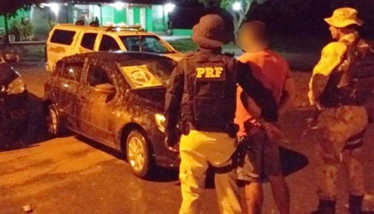 Condutor foi detido e encaminhado com o automóvel para a delegacia polícia - Foto: Divulgação | PRF