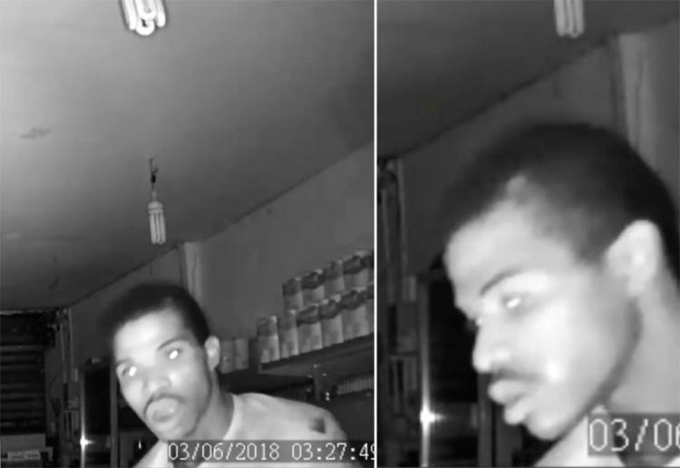 Imagens das câmeras de segurança registraram ação do suspeito