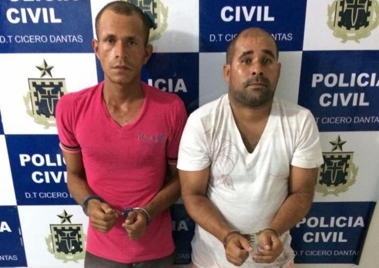 João Domingos e Júlio César foram capturados em um posto de combustíveis - Foto: Divulgação | SSP-BA
